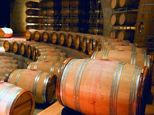Barrels in Salentein's Cellar