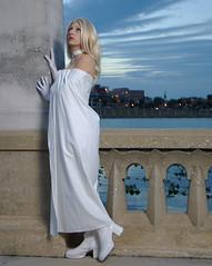 Emma Frost (nstiles42) Tags: light woman lake girl beautiful female evening ana costume model comic boots cosplay xmen hero heroine cape hellfireclub emmafrost whitequeen nstiles