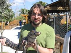 Joe Holding a Gator