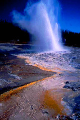 Yellowstone National Park, Letting off Steam, Wyoming (moonjazz) Tags: park wild favorite usa nature water wow crust landscape flow amazing aqua force power natural earth acid vivid tourist hike explore delight yellowstone wyoming geology wilderness geyser soe vapor explosive blueribbonwinner mywinners platinumphoto anawesomeshot superbmasterpiece diamondclassphotographer flckrdiamond betterthangood peregrino27newvision