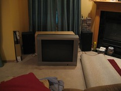 TV on the floor