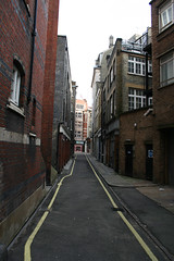 Looking along the length of the passageway