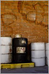 The Industrial Park #5 (ka.spr) Tags: red d50 nikon industrial barrels bricks pipe albuquerque