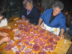 Lavorazioni delle carni di maiale