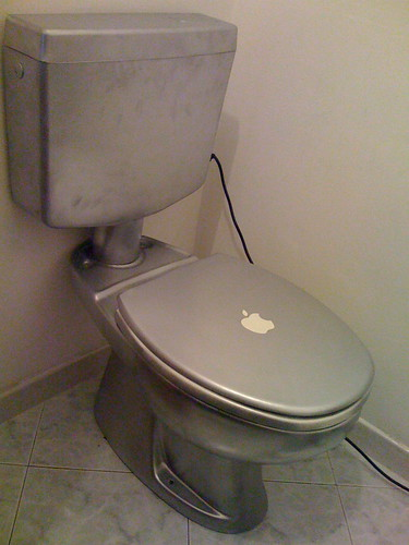 Toilet converted into computer