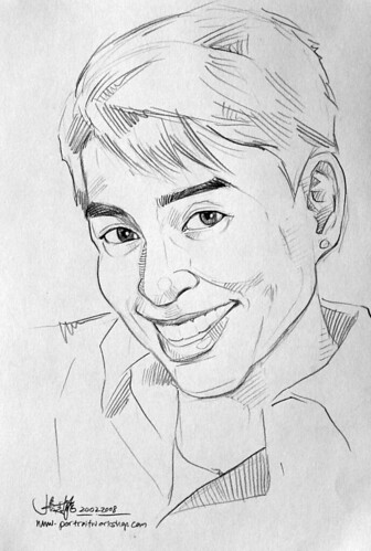 guy portrait pencil sketch 1