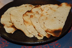 chapati (Ian Riley) Tags: food japan bread restaurant kyoto indian chapati chappati chapatti