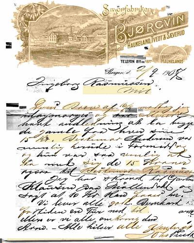 Letter to Ingeborg 1907