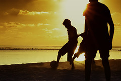 good player!!! (muha...) Tags: morning travel light sunset sea brown beach silhouette fun evening nikon soccer chrome when how maldives delegates muha kodakchrome villingili nikonstunninggallery capturenx nikonnx muhaphotos