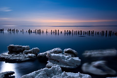 IMGP-4411 (Bob West) Tags: longexposure nightphotography ontario ice night bravo lakeerie cloudy greatlakes fullmoon nightshots sigma1020mm southwestontario bobwest k10d