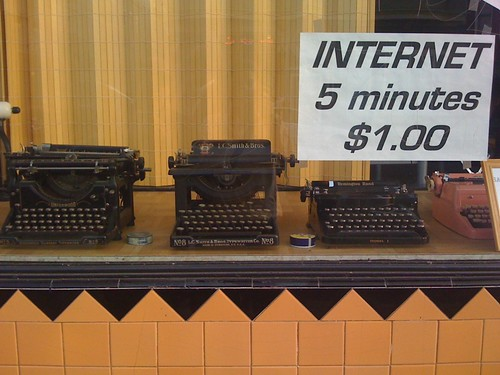 Internet, 5 minutes, $1.00