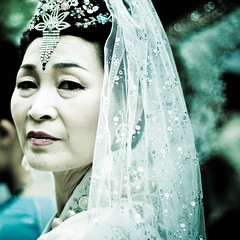 Bride Eyes (*lemonade*) Tags: woman bride asia veil festivals korea seoul fis lotuslanternfestival flickrinseoul