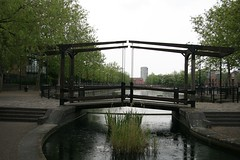 A bridge over untroubled water (John.P.) Tags: uk bridge london reeds dock guesswherelondon rotherhithe channel albion gwl surreywater