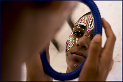 In the Mirror of Ram Ji (Elishams) Tags: portrait india reflection children kid child indian traditional culture varanasi ram hinduism miror benares northindia uttarpradesh ramnagar ramlila indedunord svarup