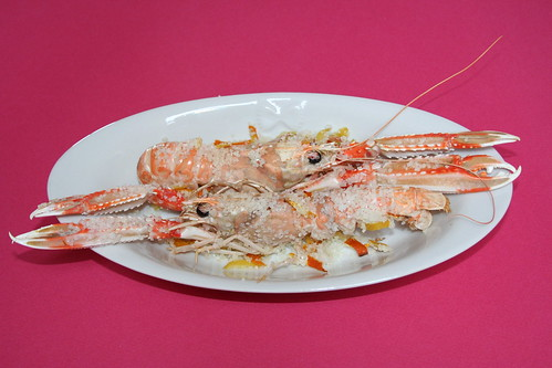 Scampi in crosta di sale agli agrumi