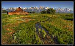 Moulton HDR Panorama (James Neeley) Tags: panorama mountains landscape bravo photomerge tetons hdr grandtetonnationalpark tiltshift mormonrow 5xp moultonbarn jamesneeley