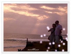 romantic weekend (Maaar) Tags: sunset bali couple ali romantic roll siti solbeach usrok