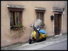 zzz... (: panti :) Tags: strada vespa porta fiori trieste posta finestre vecchia ruote discesa