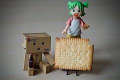 « 170 years and all his 52 teeth or almost! » ٩(◕‿◕。)۶ (Damien Saint-é) Tags: danbo frenchmanga petit beurre lu yotsuba japan manga toy jouet vinyl kotobukiya revoltech gâteau cookie