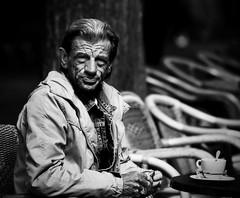 Bebel (Nwardez) Tags: street portrait people bw man face emotion expression streetportrait feelings visage