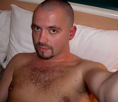 man 035-1 (SkinHH) Tags: gay feet goatee skin smoking hairylegs skinhead