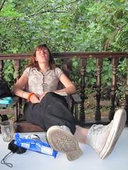 Kuching 91 - Bako NP - Celine after a long day of hiking (Ben Beiske) Tags: sleeping hot nature trekking nationalpark hiking reserve tired malaysia borneo resting kuching exhausted bako humid celine bakonationalpark