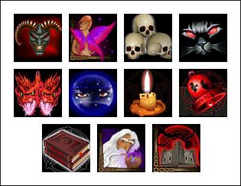 free Diablo 13 slot game symbols