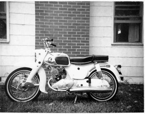 Honda CA95 Benly - 1965 model, a.k.a, Honda 150 Touring motorcycle,