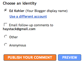 Blogger Follow-Up Comments
