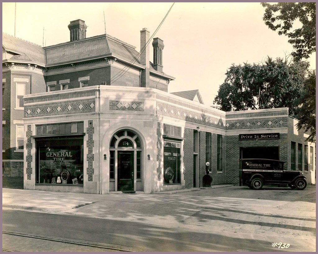 Harris Tire Co. (1928), R. S. Gerganoff, architect -- 114 East William, Ann Arbor. [Present location of the Beer Depot]