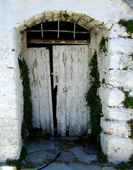 old white door