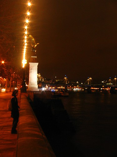 London - A view from the Thames River
