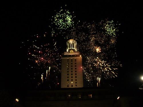 UT Tower Fireworks - 3