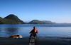 contentment (Vida Morkunas (seawallrunner)) Tags: beach me outdoors britishcolumbia calm pacificocean serenity tofino idyll stillness contentment cwall seawallrunner pacificrimnationalpark gricebay