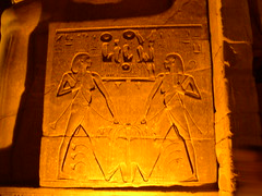 Hieroglyphic Seal (upyernoz) Tags: night temple ruins egypt luxor hieroglyphics مصر luxortemple الأقص