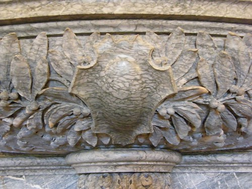 Lower Fireplace Carving Detail - Center