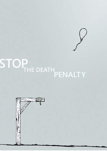 'Stop the death penalty' poster