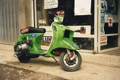 LA VESPA VOLADORA 1990 (TxabiBike) Tags: agua vespa scooter moto motor races liquid carreras subidas gernika cooled refrigeracion vespavoladora motogernika