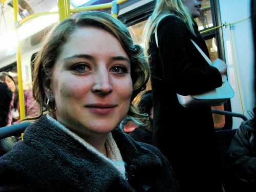 Rebecca on the bus