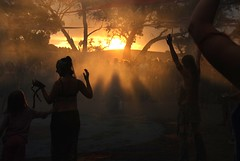 ceremonial sunset (Beautiful wwworld) Tags: sunset party bush ceremony australia victoria psytrance doof rainbowserpentfestival rainbowserpent rainbowserpentfestival2008 rsf2008