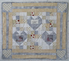 First Sample Mosaic Hearts Quilt