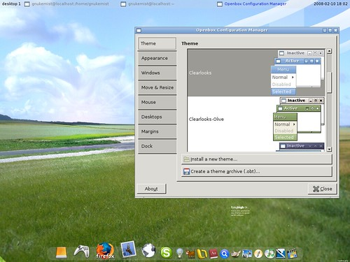 Perere Linux with wbar and pypanel