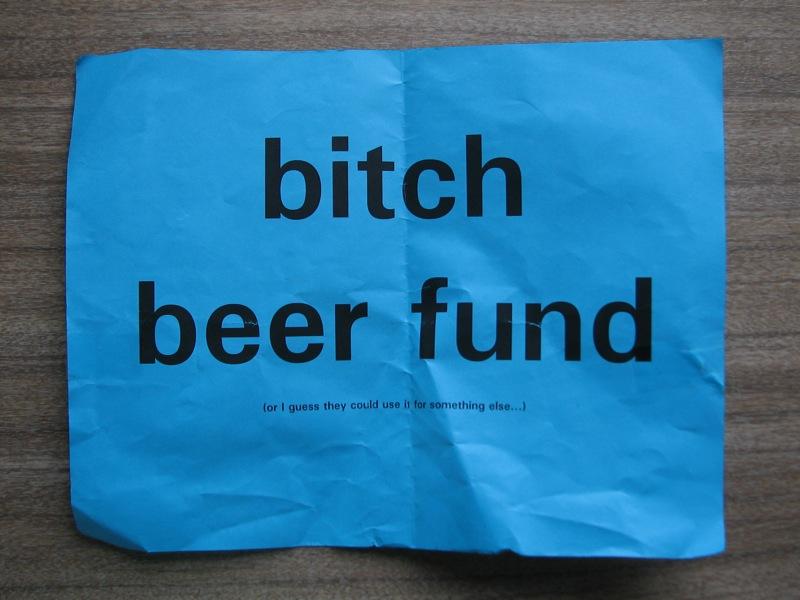 beer fund!