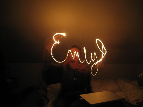 emily with a match