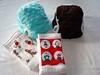 Newborn Stash Filler Set - 2 Plush Covers & 2 Embellished Prefolds