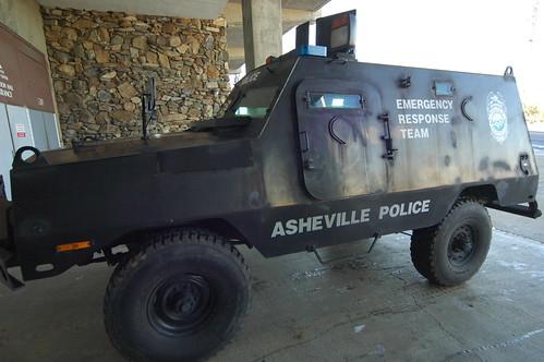 Asheville Police Department emergency response vehicle