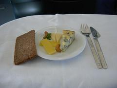 After dinner cheese, Lufthansa LH715 NRT-MUC