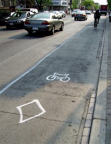 Bikelane in Toronto
