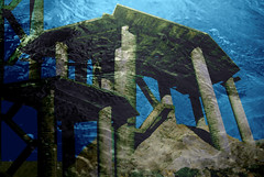 scale di atlantide (euzesio (seldom here)) Tags: blue scale water mine surreal submarine atlantis staircase forsaken escaleras atlantide miniera tarvisio cavedelpredil hourofthediamondlight tarvisiano