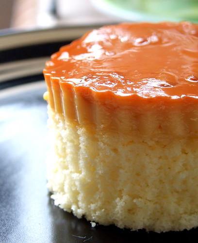 シフォンケーキのカスタードのせが美味♪プリふわ感がハートをズキューン♡